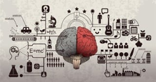 brain and various icons
