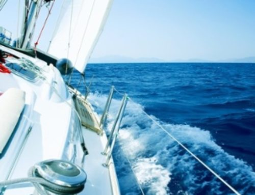 Sailboat Racing Around the World Alone