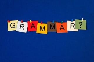 grammar spelled on cards