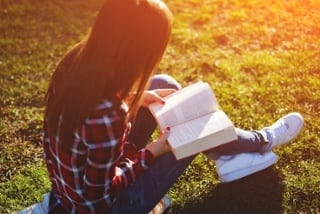 girl reading fiction