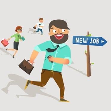 running towards a new job