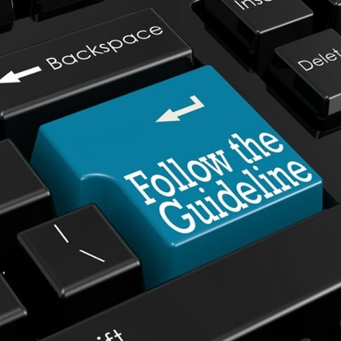 Follow the Guideline labeled key on computer keyboard