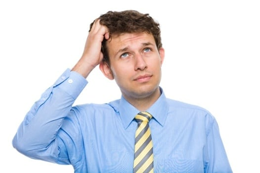 man thinking of assessment in education
