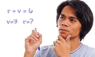 student solving algebraic expression