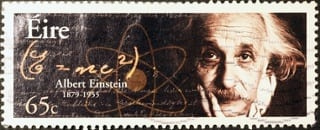 einstein on a stamp