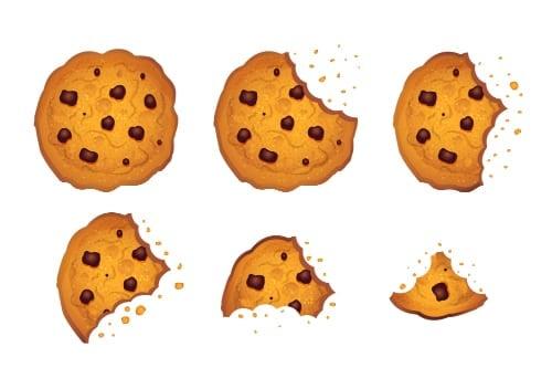 Broken cookies representing microcredentials
