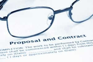 Proposal and contract for instructional design in education.