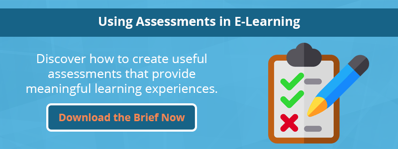 a clip board with a checklist for assessments in elearning