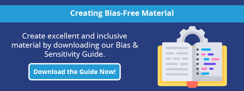 Click to download guide to creating bias free materials