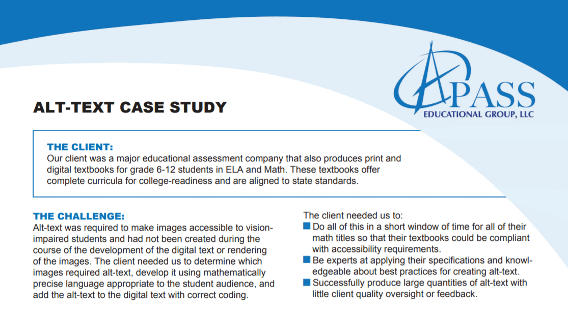 Preview of case study