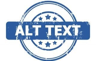 alt-text logo in blue with stars
