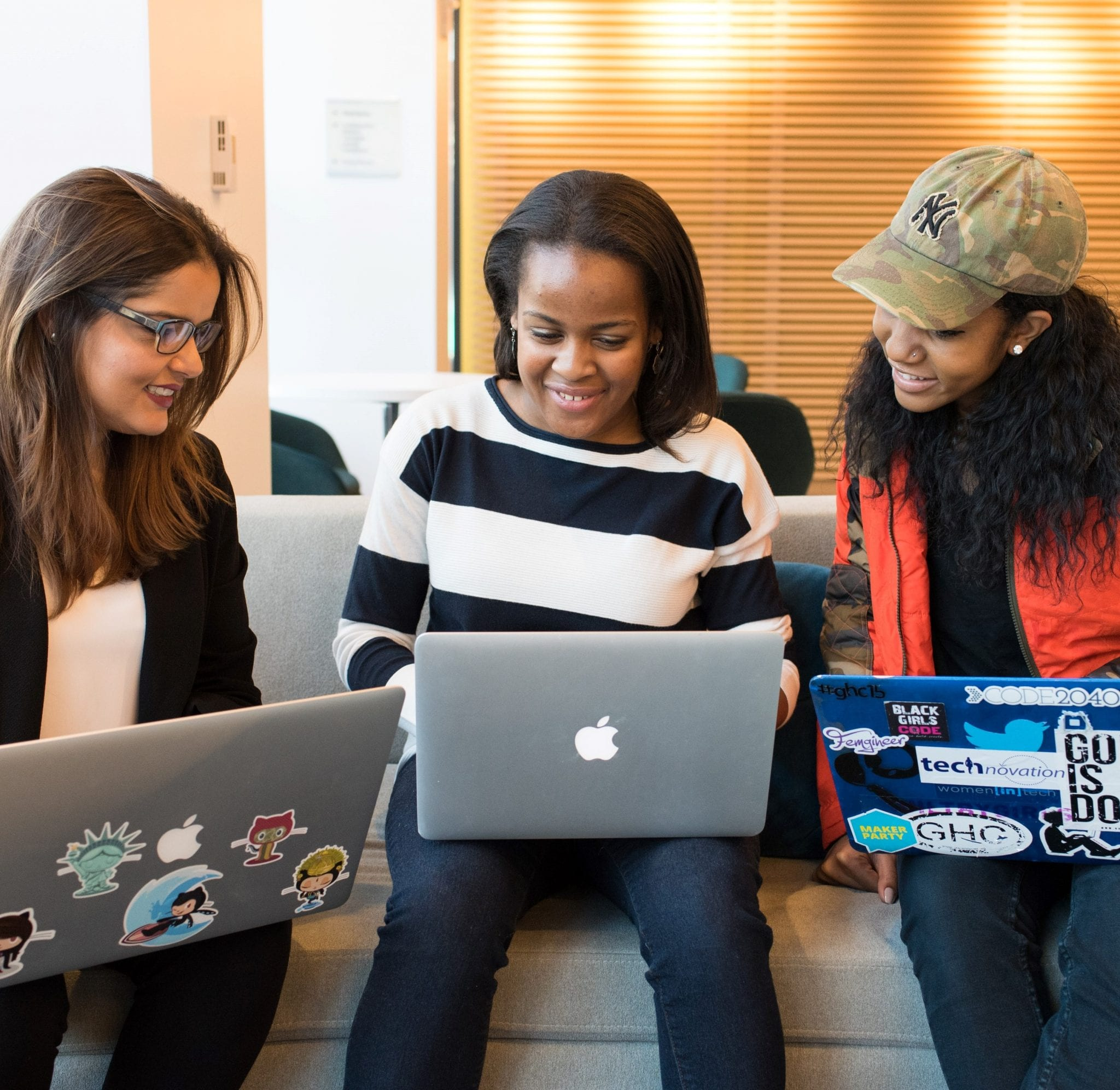 Competency-based education used by three women on computer
